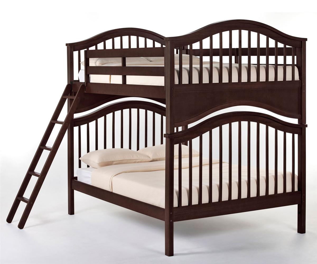 Jordan Full Size Bunk Bed In A Chocolate Finish 5015bunk
