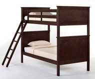 School House Casey Bunk Bed Chocolate | NE Kids | NE-5020BUNK