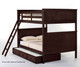 School House Casey Full over Full Bunk Bed Chocolate | 26835 | NE-5025BUNK