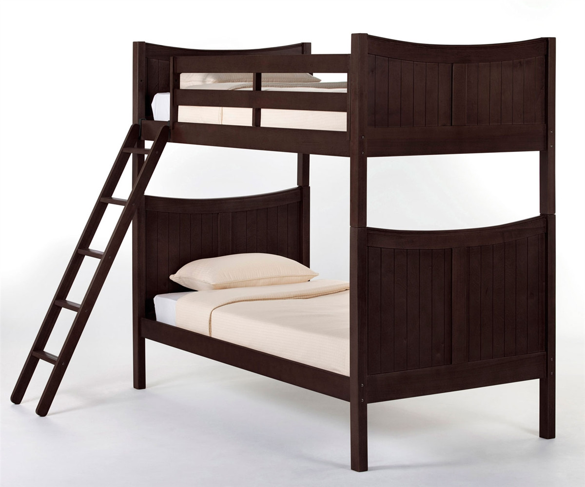 5536860fea79 Taylor Twin Size Bunk Bed in a Chocolate finish 5030BUNK