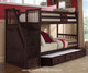 School House Staircase Bunk Bed Chocolate | 26845 | NE-5090BUNK