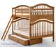 School House Jordan Full over Full Bunk Bed Pecan | 26857 | NE-6015BUNK