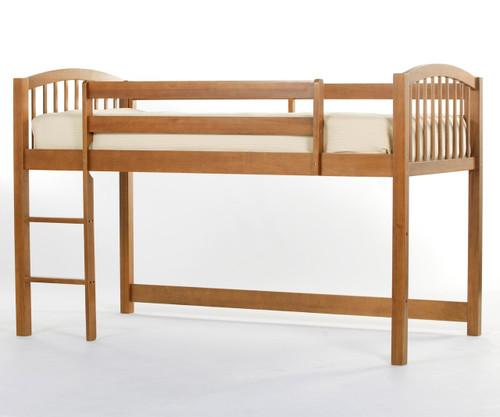 School House Junior Low Loft Bed Pecan | NE Kids | NE-6060