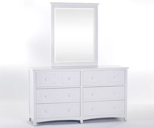 School House 6 Drawer Dresser White   NE Kids Furniture   NE-7500