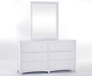 School House 6 Drawer Dresser White | NE Kids Furniture | NE-7500