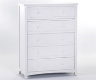 School House 5 Drawer Chest White | NE Kids Furniture | NE-7520