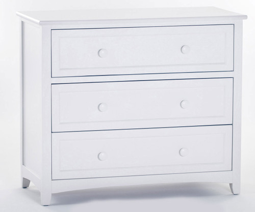 School House 3 Drawer Chest White | NE Kids Furniture | NE-7525