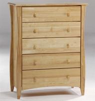 Timber Creek 5 Drawer Chest Natural | Night & Day Furniture | NE-CLOVE-5D-N