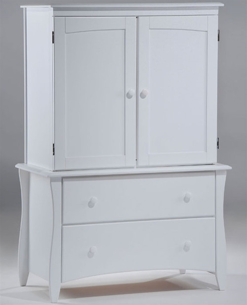 Timber Creek Armoire White | Night & Day Furniture | NE-CLOVE-AM-WH