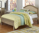 Everglades Bailey Upholstered Bed Twin Size Driftwood | NE Kids Furniture | NE10010