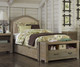 Everglades Bailey Upholstered Bed Twin Size with Trundle Driftwood | NE Kids Furniture | NE10010X