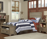 Everglades Alex Panel Bed Twin Size Driftwood | NE Kids Furniture | NE10020