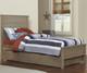 Everglades Alex Panel Bed Twin Size with Trundle Driftwood   NE Kids Furniture   NE10020X