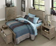 Everglades Alex Panel Bed Full Size Driftwood | NE Kids Furniture | NE10025