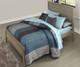 Everglades Alex Panel Bed Full Size Driftwood | NE Kids Furniture | NE10025