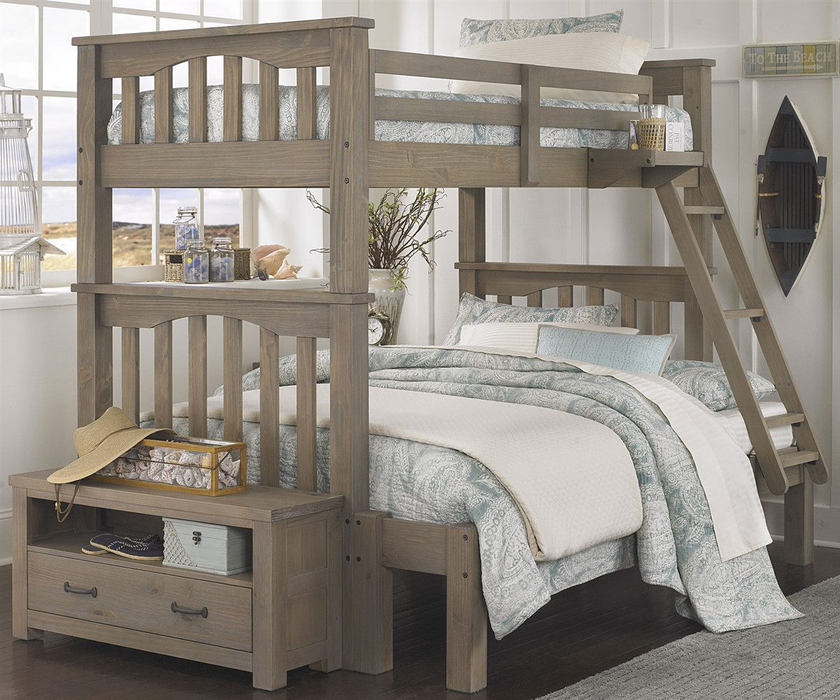10055 Harper Twin Over Full Size Bunk Bed Everglades Collection
