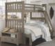 Everglades Harper Twin over Full Size Bunk Bed Driftwood | NE Kids Furniture | NE10055