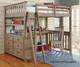 Everglades Loft Bed with Desk Driftwood | NE Kids Furniture | NE10070-Desk