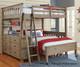 Everglades Loft Bed with Full Size Lower Bed Driftwood   NE Kids Furniture   NE10070-LWB