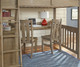 Everglades Loft Bed with Desk Full Size Driftwood | 26950 | NE10080-Desk