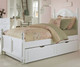 Lakehouse Payton Twin Bed with Trundle White | NE Kids | NE1010-1570