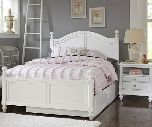 Lakehouse Payton Full Bed with Trundle White   NE Kids   NE1015-1570