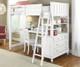 Lakehouse Loft Bed with Desk White   NE Kids   NE1040-Desk