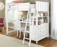 Lakehouse Loft Bed with Desk White | NE Kids | NE1040-Desk