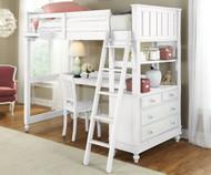 Lakehouse Loft Bed with Desk White | NE Kids | NE1040-Desk