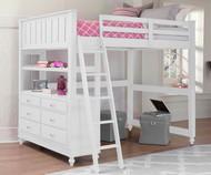 Lakehouse Loft Bed Full White | NE Kids | NE1045