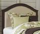 Everglades Bailey Upholstered Bed Twin Size Espresso   NE Kids Furniture   NE11010