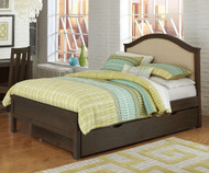 Everglades Bailey Upholstered Bed Full Size with Trundle Espresso   NE Kids Furniture   NE11015X