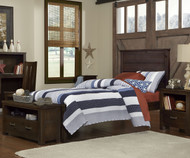 Everglades Alex Panel Bed Twin Size Espresso | NE Kids Furniture | NE11020