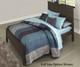 Everglades Alex Panel Bed Twin Size Espresso   NE Kids Furniture   NE11020