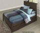 Everglades Alex Panel Bed Twin Size with Trundle Espresso   NE Kids Furniture   NE11020X