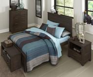 Everglades Alex Panel Bed Full Size Espresso   NE Kids Furniture   NE11025