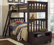 Everglades Harper Twin over Twin Size Bunk Bed Espresso | NE Kids Furniture | NE11051