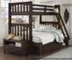 Everglades Harper Twin over Full Size Bunk Bed Espresso | NE Kids Furniture | NE11055