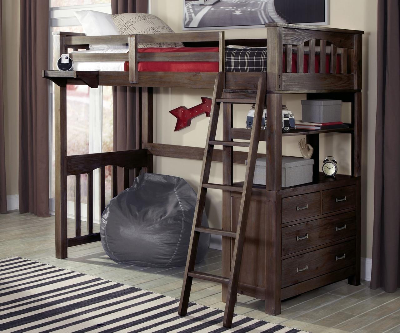 11070 Twin Size Loft Bed Everglades Collection Ne Kids Furniture