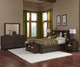 Everglades Dressing Bench Espresso | NE Kids Furniture | NE11570