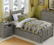Lakehouse Kennedy Twin Bed with Trundle Stone | NE Kids | NE2020-2570