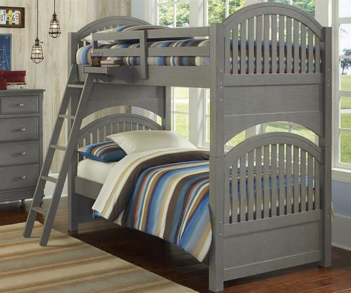 Lakehouse Adrian Bunk Bed Twin Over Twin Stone   NE Kids   NE2031