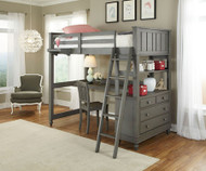 Lakehouse Loft Bed with Desk Stone | NE Kids | NE2040-Desk