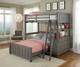 Lakehouse Loft Bed with Full Size Lower Bed Stone | NE Kids | NE2040-LWB