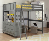 Lakehouse Loft Bed Full Size Stone | NE Kids | NE2045