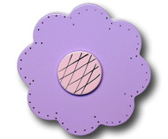 Purple Lolli Flower Drawer Pull | One World | OW-DP34558