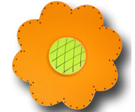 Satin Orange Lolli Flower Drawer Pull | One World | OW-DP44072