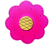 Magenta Lolli Flower Drawer Pull | One World | OW-DP47556