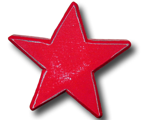 Distressed Red Star Drawer Pull | One World | OW-DP514