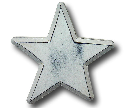 Distressed White Star Drawer Pull   One World   OW-DP515
